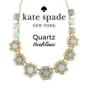 Kate Spade Quartz Green Blue Stone Rare Necklace